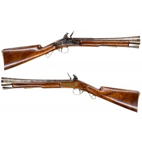 Dublin Made Flintlock Blunderbuss by George Pepper with Irish Registration Act of 1843 County Meath Markings