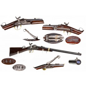 Rare Joslyn Model 1855 Monkey Tail Carbine with Inspection Cartouche