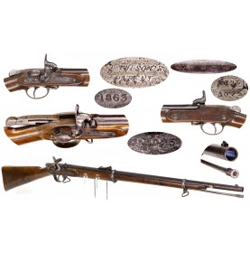 Extremely Rare Wilson's Patent Breechloading Rifle - A Likely Confederate Naval Arm