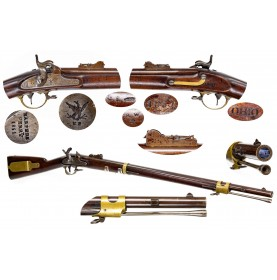 Harpers Ferry Type IIC US Model 1841 Mississippi Rifle in 54-Caliber - Extremely Rare Variant