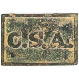 "Gorgeous Dug Example of a Rectangular CSA ""Virginia Style"" Belt Plate"