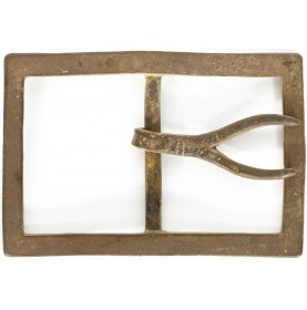Attractive Dug Confederate Forked Tongue Belt Plate