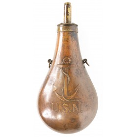 """Stimpson Contract """"Fouled Anchor"""" US Navy Powder Flask"""