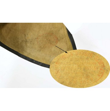 Confederate Used Rubberized Rain Hat - Troiani Collection