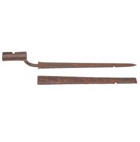 Dutch-Germanic Colonial Era Socket Bayonet & Scabbard