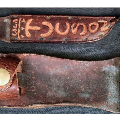 Blade Marked USMC KA-BAR WWII Theater Knife