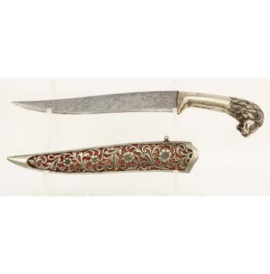 Decorative Indian Chhuri Didkhami Lion Pommel Dagger