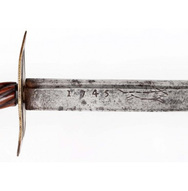 American Silver Hilted Hunting Sword - Attributed to William Moulton