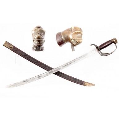 American Revolutionary War Officers' Hanger & Scabbard - Fine
