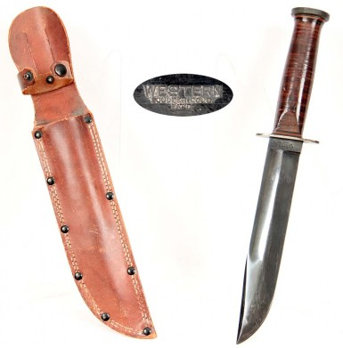 Western Cutlery WWII Fighting Knife - Excellent