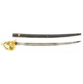 Ames Model 1860 Naval Officer's Cutlass & Scabbard