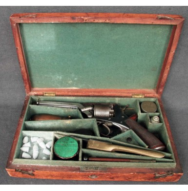 Cased 4th Model Tranter Revolver in the Civil War Serial Number Range