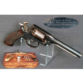 Cased Deane Harding Revolver - About Excellent