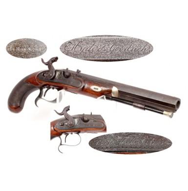 Antebellum English Pistol Retailed by Hyde & Goodrich