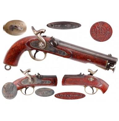British P-1858 E.I.G. Service Pistol - Excellent