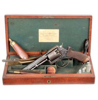 Beaumont-Adams Revolver - Cased with Brazier Lever & Wilkinson Retailed
