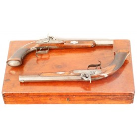 Extremely Rare Cased Pair of Schneider & Co - Memphis Pistols