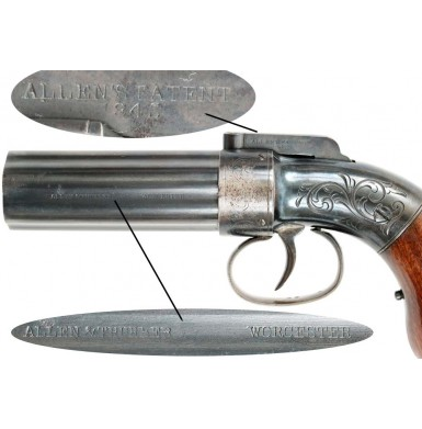 Allen & Thurber Cased Pepperbox - Excellent