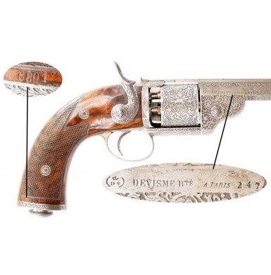 Cased & Engraved Devisme Exhibition Grade Revolver