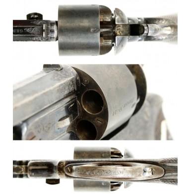 Cased & Engraved Pryse & Cashmore Revolver - Very Fine