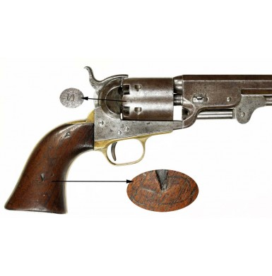 Colt Navy-Army Martially Marked M1851 Revolver