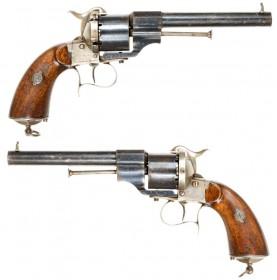 Fine M1854 Lefaucheux Revolver