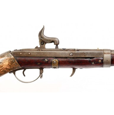 Extremely Rare Confederate Mississippi Altered Hall Rifle to Carbine