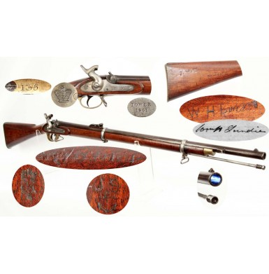 Identified Confederate JS/Anchor marked & Numbered P-1858 Enfield Short Rifle