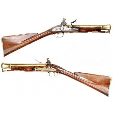 Extremely Rare Matched Pair of Flintlock Coaching Carbines
