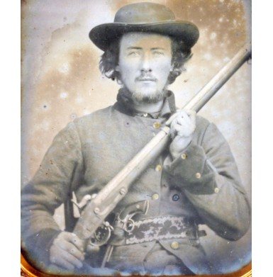 Fantastic Double-Armed Confederate Image from West Tennessee