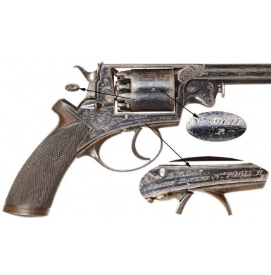 Engraved M1854 Beaumont-Adams Revolver