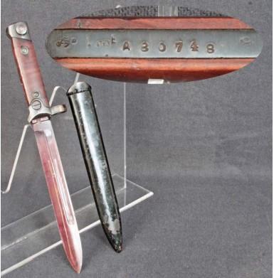 Italian M91/38 Carcano Carbine Folding Bayonet & Scabbard