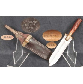 US M-1880 Hunting Knife & Scabbard