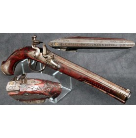 Exquisite Flintlock Pistol by J Christoph Kuchenreiter