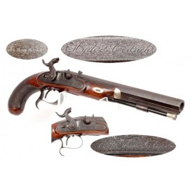 Antebellum English Pistol Retailed by Hyde & Goodrich