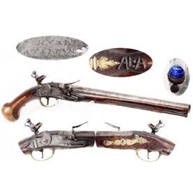 French Officers' Pistol c1740 by Hvart of Verdun