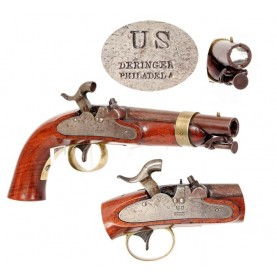 Excellent & Rare Rifled US Navy M-1842 Pistol by Deringer
