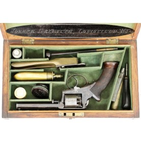 Cased Adams Pocket Revolver - Louisville Retailer Marked