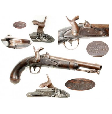 Confederate Altered M-1836 Pistol by Adams of Richmond