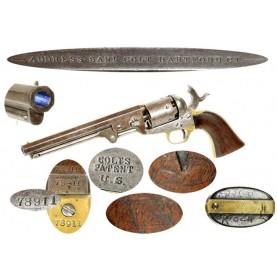Colt Navy-Army Martially Marked M1851 Revolver