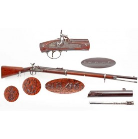 Confederate Imported P-1856 Rifle with JS/Anchor & CS Numbers