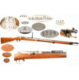 Excellent Mauser 71/84 by Danzig with WWI Unit Marks