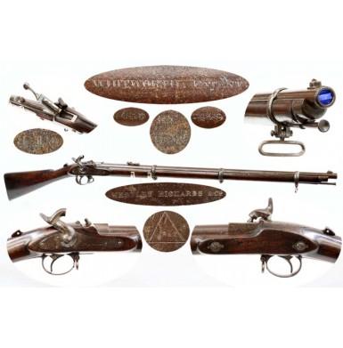 Scarce Westley Richard Monkey Tail Military Match Rifle
