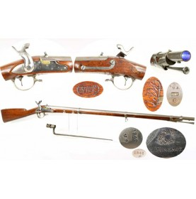 Pomeroy Contract US M1840 Musket & Bayonet - Percussion Altered & Rifled